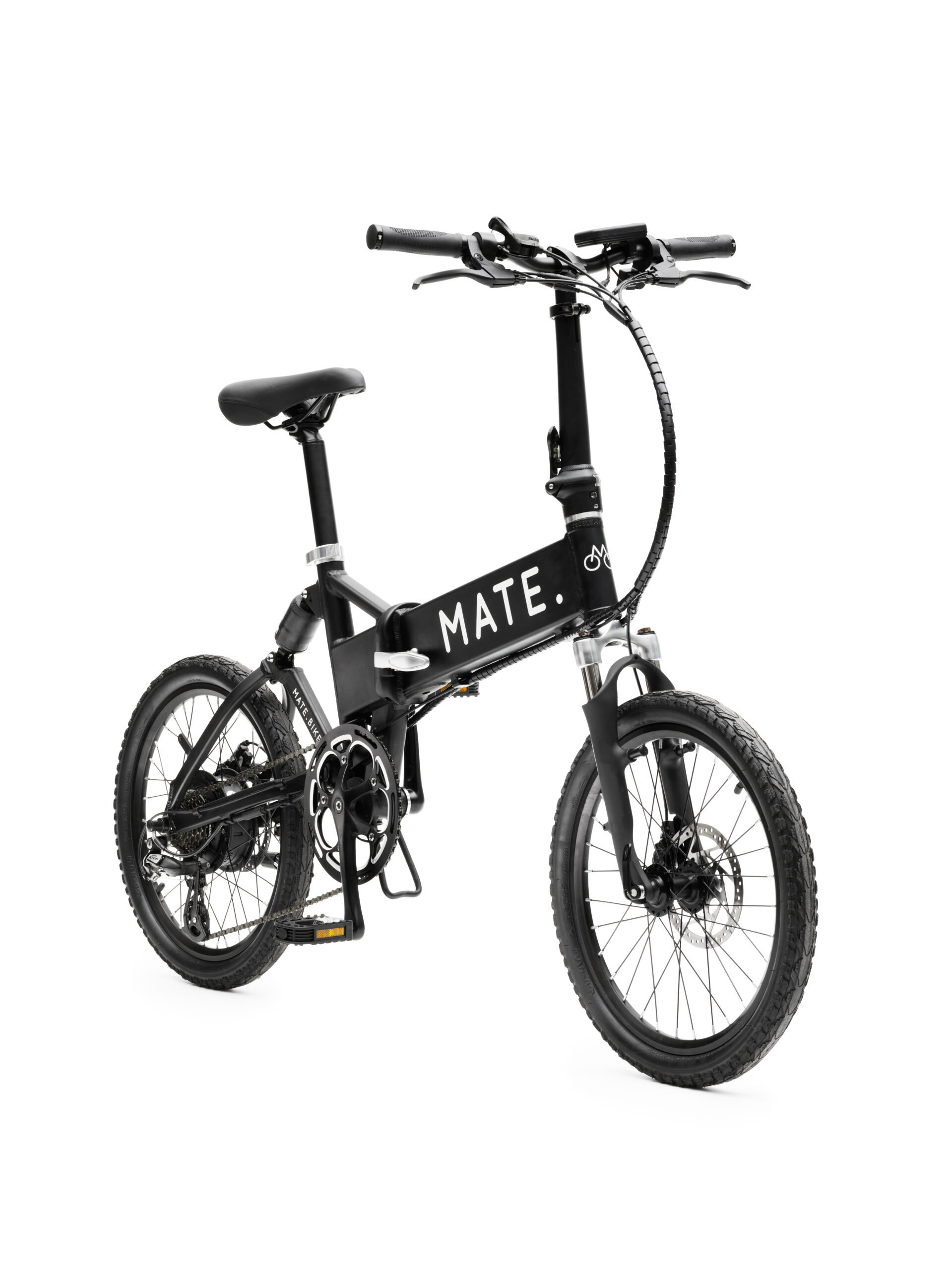 Schwarze Farbe Elektrofahrradkumpel City Classic Packshot des Fahrrads